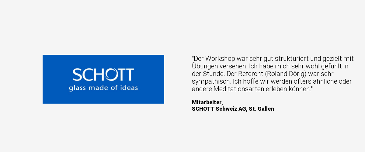 testimonial meditation in unternehmen mindfulmind schott. Black Bedroom Furniture Sets. Home Design Ideas